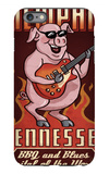 Memphis, Tennessee - Guitar Pig iPhone 6 Plus Case by  Lantern Press