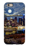 Detroit, Michigan - Skyline at Night iPhone 6 Case by  Lantern Press