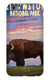 Yellowstone National Park - Bison and Sunset iPhone 6 Plus Case by  Lantern Press