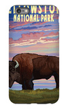 Yellowstone National Park - Bison and Sunset iPhone 6s Plus Case by  Lantern Press