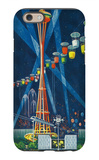 Space Needle Worlds Fair Poster - Seattle, WA iPhone 6 Case by  Lantern Press