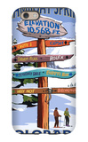 Steamboat Springs, Colorado - Ski Run Signpost iPhone 6 Case by  Lantern Press