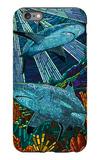 Black Tip Reef Shark - Paper Mosaic iPhone 6s Plus Case by  Lantern Press