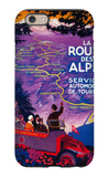 La Route Des Alpes Vintage Poster - Europe iPhone 6 Case by  Lantern Press