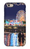 Santa Monica, California - Pier at Night iPhone 6 Case by  Lantern Press
