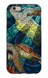 Sea Turtle - Paper Mosaic iPhone 6 Case by  Lantern Press
