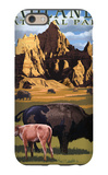 Badlands National Park, South Dakota - Bison Scene iPhone 6 Case by  Lantern Press