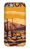 Arizona Desert Scene with Cactus iPhone 6 Case by  Lantern Press