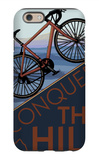 Conquer the Hill - Mountain Bike iPhone 6 Case by  Lantern Press