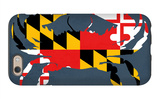 Maryland - Crab Flag - No Text iPhone 6 Case by  Lantern Press
