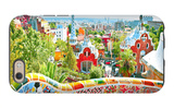 The Famous Summer Park Guell Over Bright Blue Sky In Barcelona, Spain iPhone 6 Case by  Vladitto