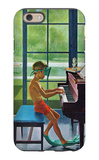 """Poolside Piano Practice,"" June 11, 1960 iPhone 6 Case by George Hughes"