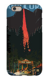 Firefall and Camp Curry - Yosemite National Park, California iPhone 6 Case by  Lantern Press