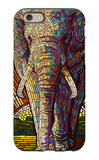 Elephant - Paper Mosaic iPhone 6 Case by  Lantern Press