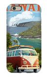 VW Van - Hawaii Volcanoes National Park iPhone 6 Case by  Lantern Press