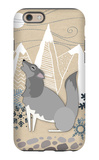 Winter Wolf Howling iPhone 6 Case by  Lantern Press