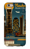 Retro Skyline - Nashville, Tennessee iPhone 6s Case by  Lantern Press