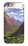 Zion National Park - Zion Canyon View iPhone 6 Case by  Lantern Press
