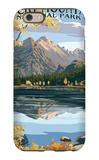 Long's Peak and Bear Lake - Rocky Mountain National Park iPhone 6 Case by  Lantern Press