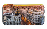 Panoramic View Of Gran Via, Madrid, Spain iPhone 6 Case by  kasto