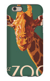 Visit the Zoo, Giraffe Up Close iPhone 6 Case by  Lantern Press