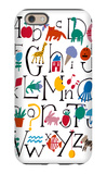 Cute Alphabet with Illustrations iPhone 6 Case