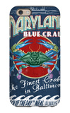 Baltimore, Maryland - Blue Crabs iPhone 6s Case by  Lantern Press