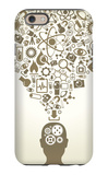 Human Head And Icons Of Science iPhone 6 Case by  VLADGRIN