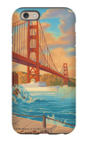 Golden Gate Bridge Sunset - 75th Anniversary - San Francisco, CA iPhone 6 Case by  Lantern Press