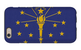Indiana State Flag iPhone 6 Case by  Lantern Press