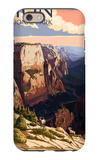Zion National Park - Zion Canyon Sunset iPhone 6 Case by  Lantern Press