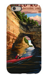 Pictured Rocks National Lakeshore, Michigan iPhone 6 Case by  Lantern Press
