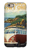 California Highway One Coast VW Van iPhone 6 Case by  Lantern Press