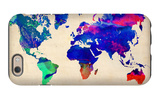 World Watercolor Map 2 iPhone 6s Case by  NaxArt