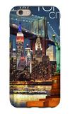 New York City, NY - Skyline at Night iPhone 6s Case by  Lantern Press