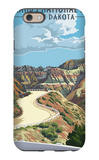 Badlands National Park, South Dakota - Road Scene iPhone 6 Case by  Lantern Press