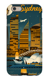 Sydney, Australia - Retro Skyline iPhone 6s Case by  Lantern Press