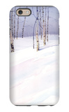 Winter Landscape with Birch Trees iPhone 6 Case