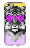 Party Tiger in Glasses iPhone 6 Case by Lisa Kroll