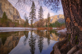 Reflections Inside The Valley Late Winter, Yosemite National Park Photographic Print by Vincent James