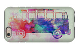 VW Bus Watercolor iPhone 6 Case by  NaxArt