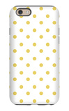 Yellow Polk-a-dots iPhone 6 Case by  Avalisa