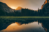 Day Burst Reflection at Half Dome, Yosemite National Park Photographic Print by Vincent James