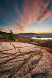 Sunset Cloudscape at Cadillac Mountain, Acadia National Park, Maine Fotografisk tryk af Vincent James
