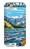Avalanche Lake - Glacier National Park, Montana iPhone 6 Case by  Lantern Press