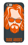 Dude Abides Orange Poster iPhone 6 Case by Anna Malkin