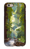 Kings Canyon National Park, California - Pathway and Hikers iPhone 6 Case by  Lantern Press