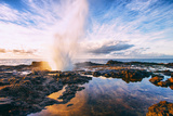 Spouting Horn Power at Sunrise, South Kauai, Poipu Hawaii Photographic Print by Vincent James