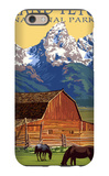 Grand Teton National Park - Barn and Mountains iPhone 6 Case by  Lantern Press