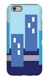 Blue Buildings iPhone 6 Case by  Avalisa
